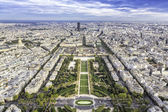 Aerial View on Champ de Mars and Invalides in Paris — Stock Photo