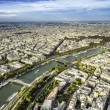 Aerial View on Paris, France — Stock Photo