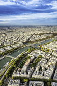 Aerial View on Paris, France — Stockfoto