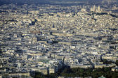View of Paris with Sacre Coeur Basilica — Stockfoto