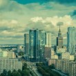 Warsaw Skyline City Timelapse with cloud Dynamic — Stock Video