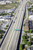 Highway aerial view — Stock Photo