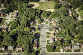 Residential buildings from above — Stockfoto