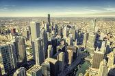 Chicago skyline panorama aerial view — Foto de Stock