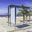 Workout station on IpanemBeach ,Rio de Janeiro — Stock Photo #36520489