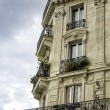 Typical Paris building — Stock Photo