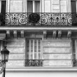 Typical Paris building facade — Stock Photo