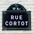 Traditional Paris plaque with street name — Stock Photo