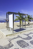 Workout station on Ipanema Beach ,Rio de Janeiro — Stock Photo