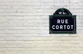 Traditional Paris plaque with the name of the street — Стоковое фото