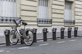 Parking of bicycles for rent in Paris — Zdjęcie stockowe