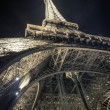 Eiffel Tower light show at night — Stock Photo