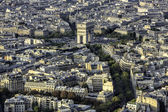 Aerial view of Arch of Triumph, Paris — Foto Stock