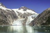 Glacier bay with clear blue sky — Stockfoto