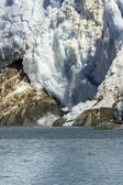 Avalanche in glacier bay — Stock Photo