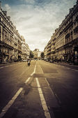 Typical street near Opera in Paris, France. — Stock Photo