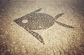 Barra da Tijuca sidewalk mosaic in Rio de Janeiro — Foto de Stock
