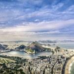 Aerial panorama of Rio de Janeiro — Stock Photo