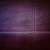 Leather stitched texture — Stock Photo
