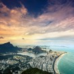 Aerial sunset view of Rio de Janeiro,Brazil — Stock Photo #43005267