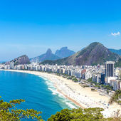 Aerial view of Copacabana Beach in Rio de Janeiro — Stock Photo