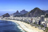Aerial view of Copacabana Beach in Rio de Janeiro, Brazil — Stock Photo