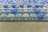 Empty color stadium seats at Maracana football stadium in Rio de Janeiro,Brazil — Stock Photo