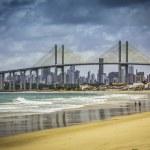 ville de natal beach avec pont de navarro, Brésil — Photo #44008761