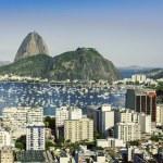 Rio de Janeiro aerial vintage view, Brazil — Stock Photo #44008927