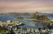 Sunset over Rio de Janeiro Botafogo Bay — Stock Photo