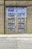Industrial old garage door — Stock Photo
