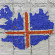Iceland flag map — Stockfoto