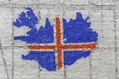 Iceland flag map — Stock Photo