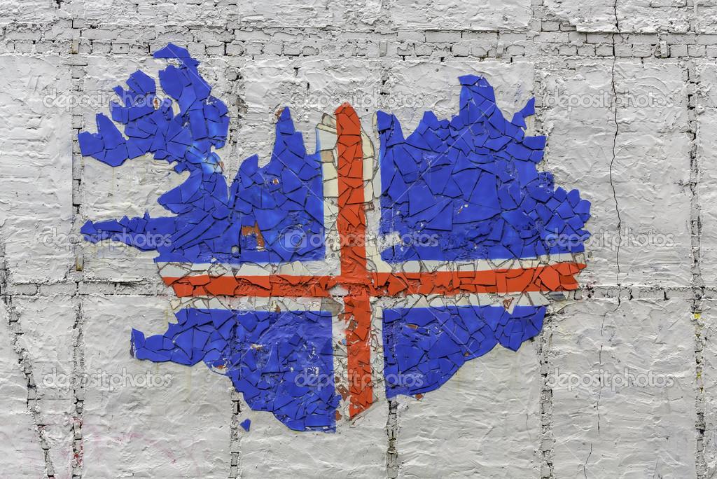冰岛国旗地图 — 图库照片08marchello74#49367021