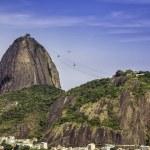 Rio de Janeiro aerial vintage view, Brazil — Stock Photo #49549595