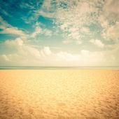 Solsken på Tom beach - vintage-look — Stockfoto