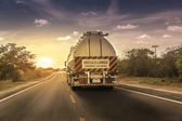 Oversize truck with trailer in northern Brazil — Stock Photo