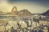Rio de Janeiro sunny aerial view, Brazil — Stock Photo