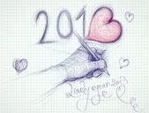 Lovely year 2013 — Stock Vector