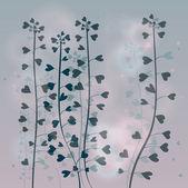 çiçek sever kalpler — Stok Vektör