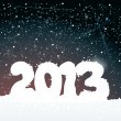 Happy new year card 2013 — Imagen vectorial