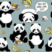 Panda bir soğuk var — Stok Vektör