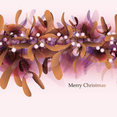 Lusso merry christmas card — Vettoriale Stock