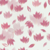 Pink tulips pattern — Stock Vector