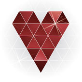 Geometric red heart — Stock Vector