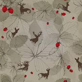 Hunter's wallpaper — Stock Vector