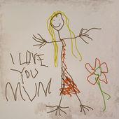 Me encanta tu mamá — Vector de stock