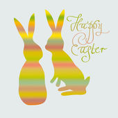 Funny striped rabbits — Vecteur