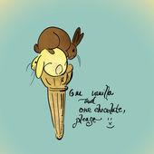 Vanilla and Chocolate ice cream — Wektor stockowy