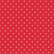 Постер, плакат: Red background retro seamless vector pattern with white polka dots
